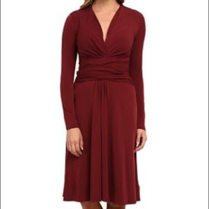 Michael Kors Long Sleeve Faux Wrap Dress